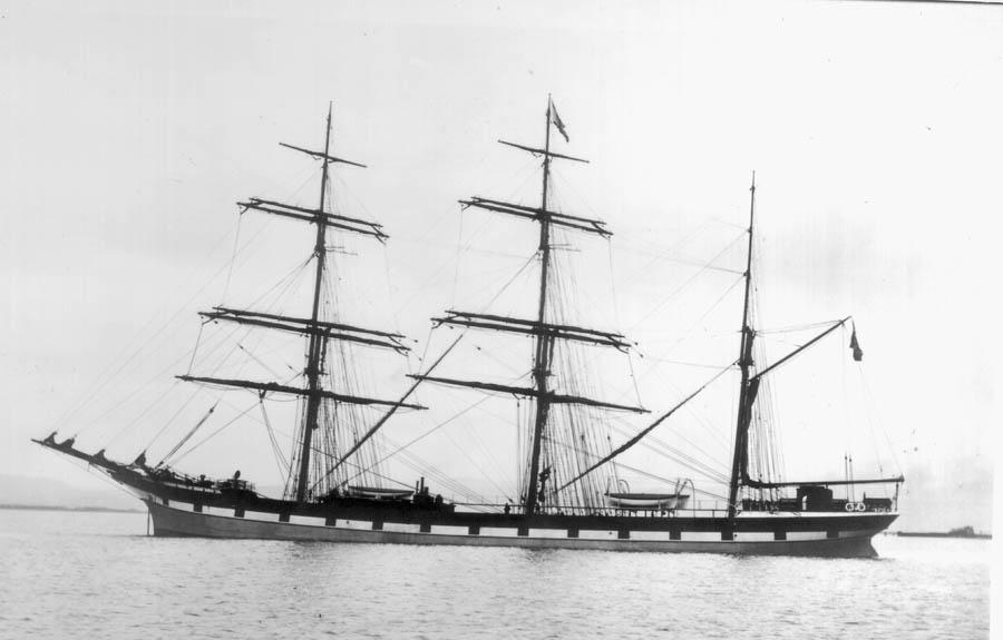 """Stålbarken """"Stjørn"""" av Tvedestrand var eid av familien Smith på Furøya i Tvedestrand"""