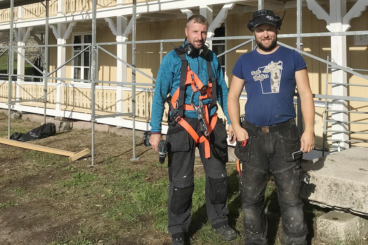 Froland Bygg ved Espen Eikemo og Nico Matews har bodd på Furøya mens de har satt i stand gjestehuset.